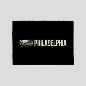 Black Flag: Philadelphia 5'x7'Area Rug