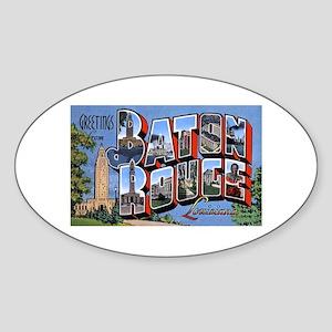 Baton Rouge Louisiana Greetings Oval Sticker