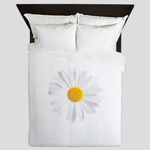 fresh white daisy Queen Duvet