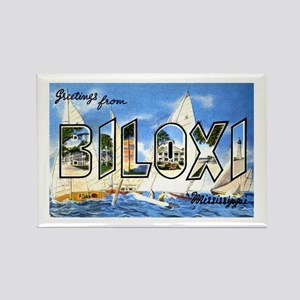 Biloxi Mississippi Greetings Rectangle Magnet
