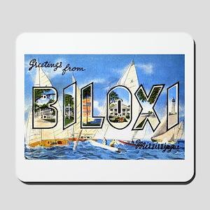 Biloxi Mississippi Greetings Mousepad