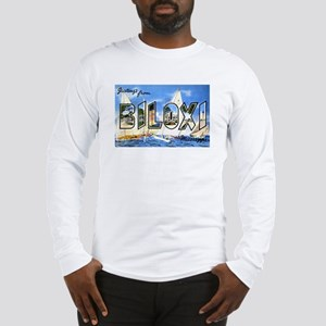 Biloxi Mississippi Greetings (Front) Long Sleeve T