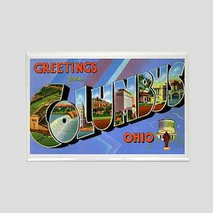 Columbus Ohio Greetings Rectangle Magnet