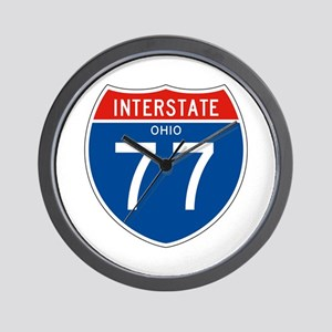Interstate 77 - OH Wall Clock