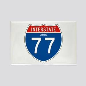 Interstate 77 - OH Rectangle Magnet