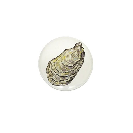 oyster shell Mini Button