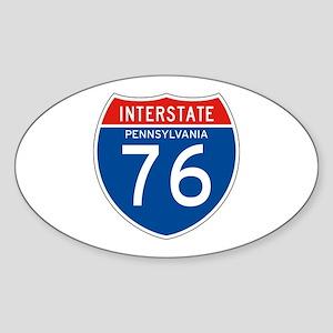 Interstate 76 - PA Oval Sticker