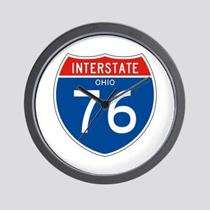 Interstate 76 - OH Wall Clock