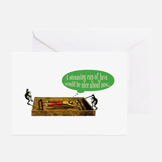 Frog Steaming Java Greeting Cards (Pk of 10)