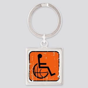 Handicapable Basketball Square Keychain