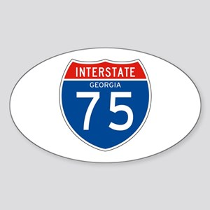 Interstate 75 - GA Oval Sticker