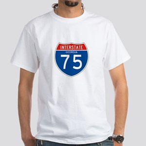 Interstate 75 - GA White T-Shirt