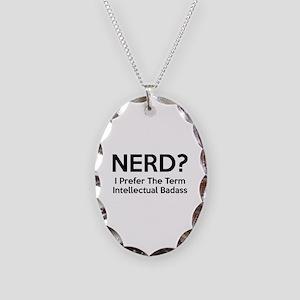 Nerd? Necklace Oval Charm