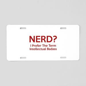 Nerd? Aluminum License Plate