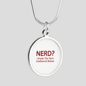 Nerd? Silver Round Necklace