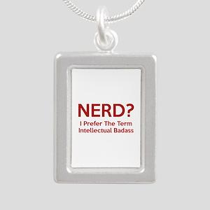 Nerd? Silver Portrait Necklace