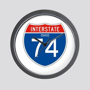 Interstate 74 - OH Wall Clock