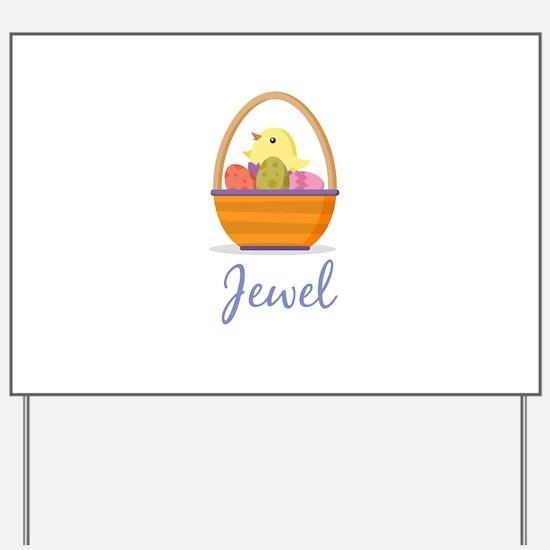 Easter Basket Jewel Yard Sign
