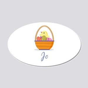 Easter Basket Jo Wall Decal