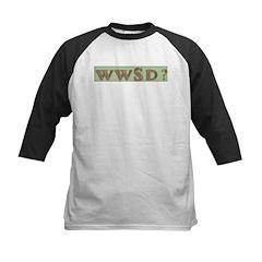 WWJD? and variations Kids Baseball Jersey