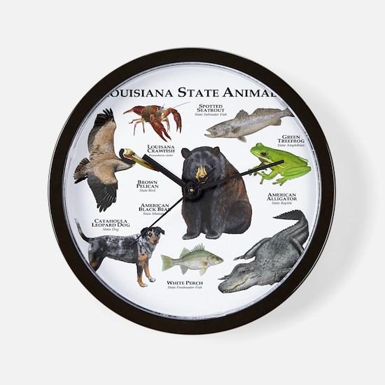 Louisiana State Animals Wall Clock