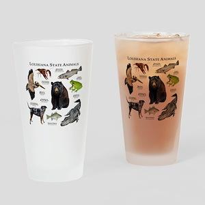 Louisiana State Animals Drinking Glass