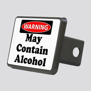 May Contain Alcohol Warning Hitch Cover