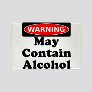 May Contain Alcohol Warning Rectangle Magnet