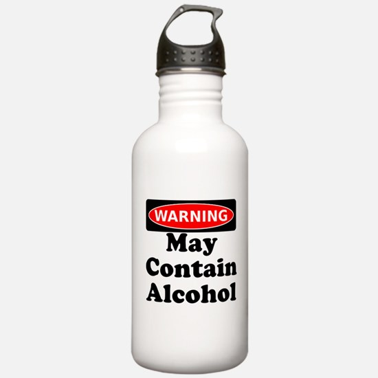 May Contain Alcohol Warning Water Bottle
