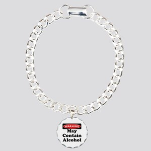 May Contain Alcohol Warning Bracelet
