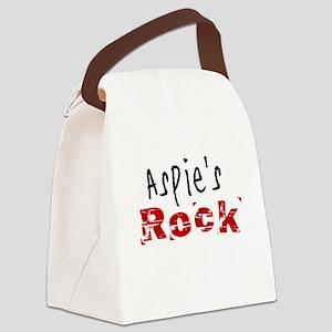 Aspie's Rock Canvas Lunch Bag