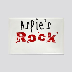 Aspie's Rock Rectangle Magnet