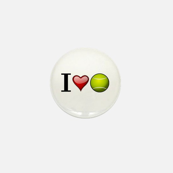 I heart tennis Mini Button