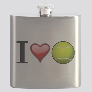 I heart tennis Flask