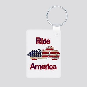 Flag-painted motorcycle-RIDE-1 Keychains