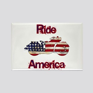 Flag-painted motorcycle-RIDE-1 Rectangle Magnet