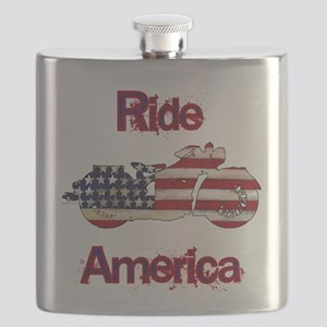 Flag-painted motorcycle-RIDE-1 Flask