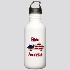 Flag-painted motorcycle-RIDE-1 Water Bottle