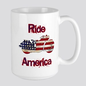Flag-painted motorcycle-RIDE-1 Mug