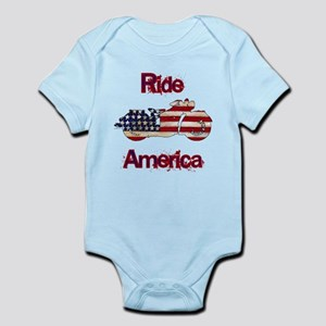 Flag-painted motorcycle-RIDE-1 Body Suit