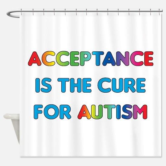 Autism Acceptance Shower Curtain