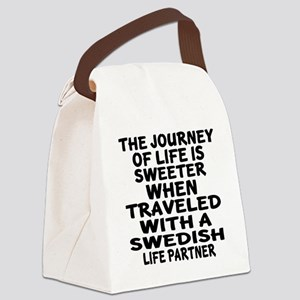 Traveled With Swedish Life Partne Canvas Lunch Bag