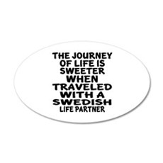 Traveled With Swedish Life P Wall Decal