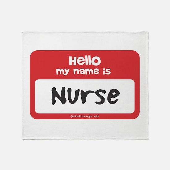 Nurse Name Tag Throw Blanket