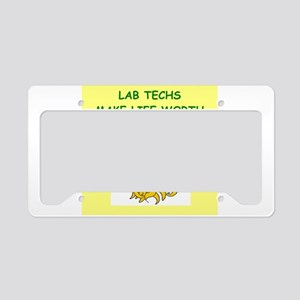 lab techs License Plate Holder