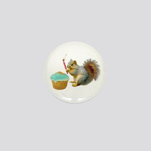 Squirrel Candle Cupcake Mini Button