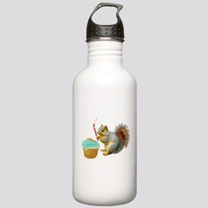 Squirrel Candle Cupcake Stainless Water Bottle 1.0