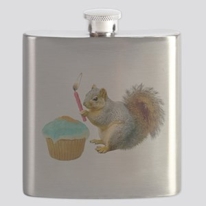 Squirrel Candle Cupcake Flask