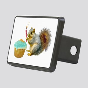 Squirrel Candle Cupcake Rectangular Hitch Cover