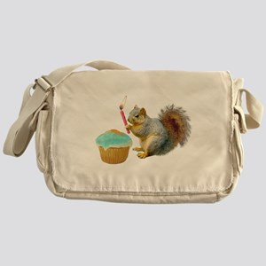 Squirrel Candle Cupcake Messenger Bag